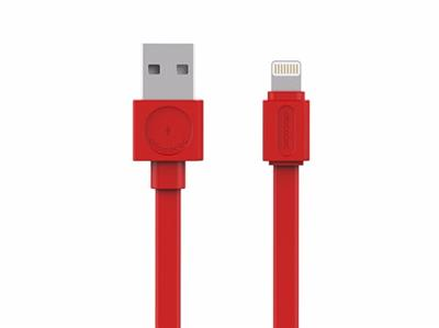 Allocacoc USB Kabel Lightning Flat red